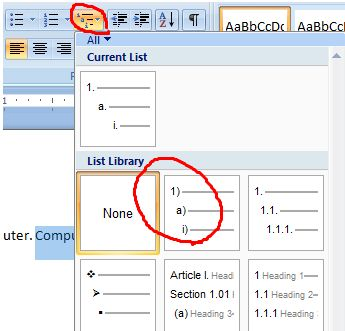 Multilevel Bullets And Numbering In Ms Word